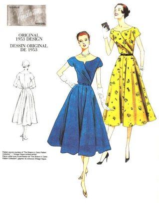 Vogue 1953 Dress Pattern