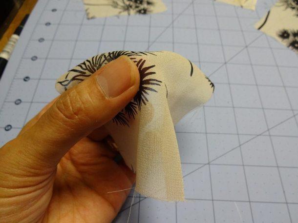 See how this square of silk chiffon (no wash) drapes?