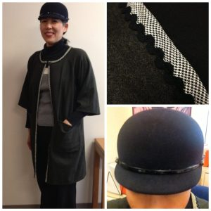 Day 16 - Wearing my trench coat, which I made from Christine Haynes book Chic & Simple Sewing