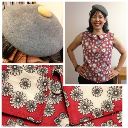 Day 8: My Sassy Librarian Blouse - completed!