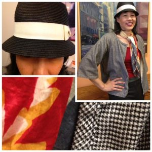 Day 23: I made this jacket from Christine Haynes book Chic & Simple Sewing. The fabric is a herringbone corduroy I got at the East Bay Depot for Creative Reuse.