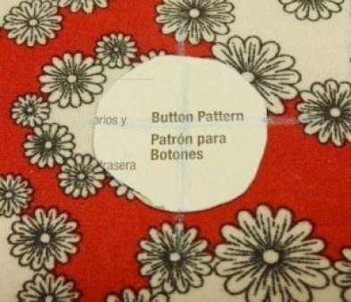 Line up pattern with fabric