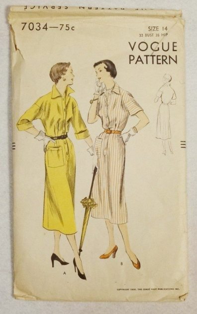 1950 Vogue dress pattern