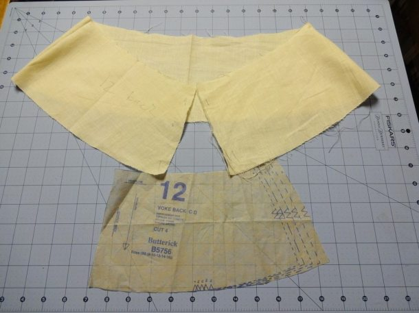 muslin of skirt yoke - B5756