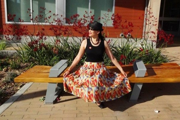 Butterick B5756 cotton voile skirt with a yoke - csews.com