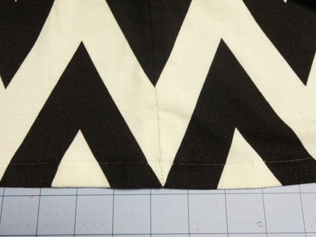 Cutting Chevron Knit Fabric and Matching Chevrons