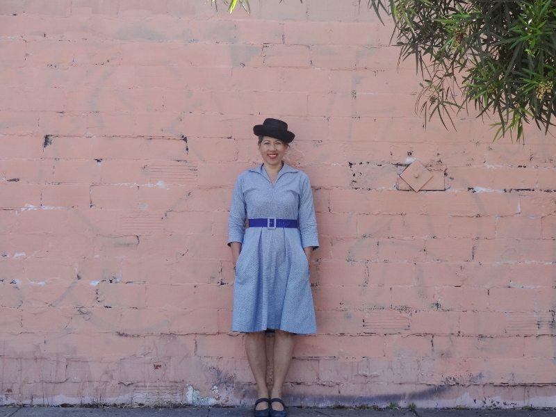 Winifred Dress - Bluegingerdoll Patterns - front view - csews.com