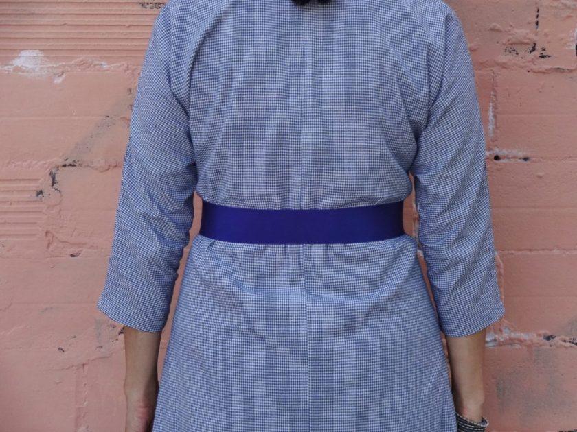 Winifred Dress - Bluegingerdoll Patterns - back view - close up - csews.com