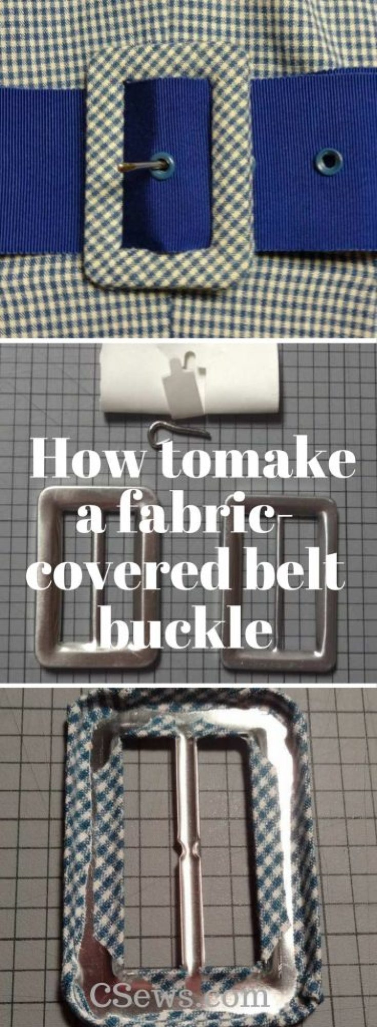 How to make a fabric-covered belt buckle - Maxant buckle kit