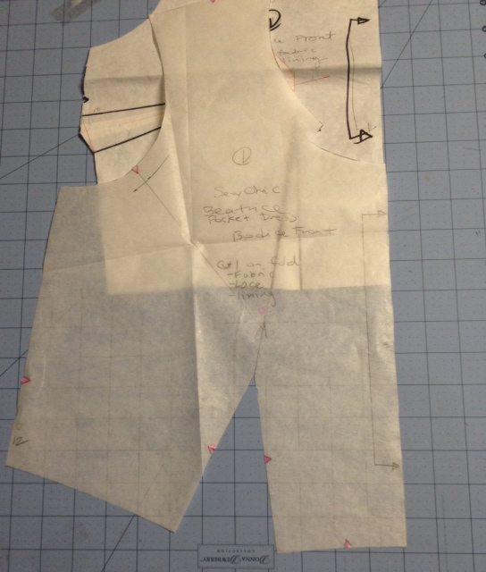 Beatrice Dress front bodice pattern piece - csews.com