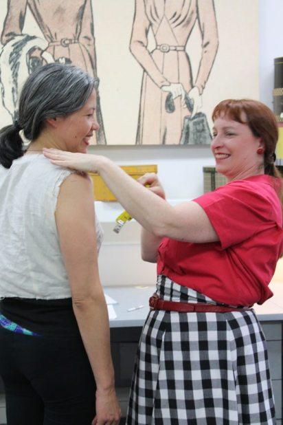 Loran at Bay Area Sewists fitting meetup - June 2014