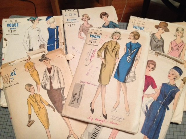 vintage patterns - from Bay Area Sewists meetup