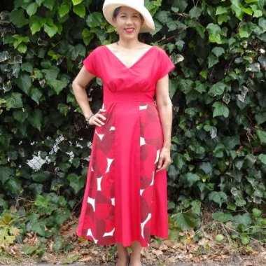Red Anna Dress - By Hand London - csews.com