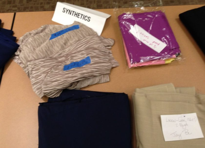 Bay Area Sewists - Fabric swap - Synthetic fabric