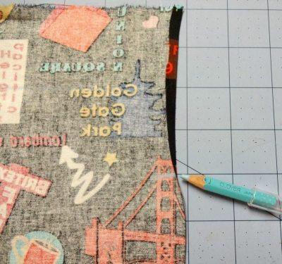How to make a drawstring bag - Marking top fold - drawstring bag - csews.com