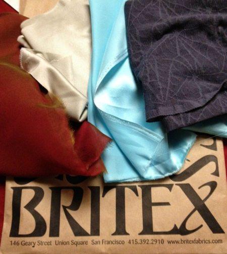 4 fabrics from Britex Fabrics