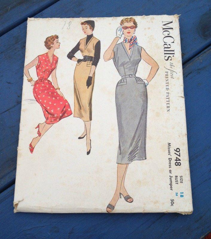 vintage McCalls dress pattern - csews.com