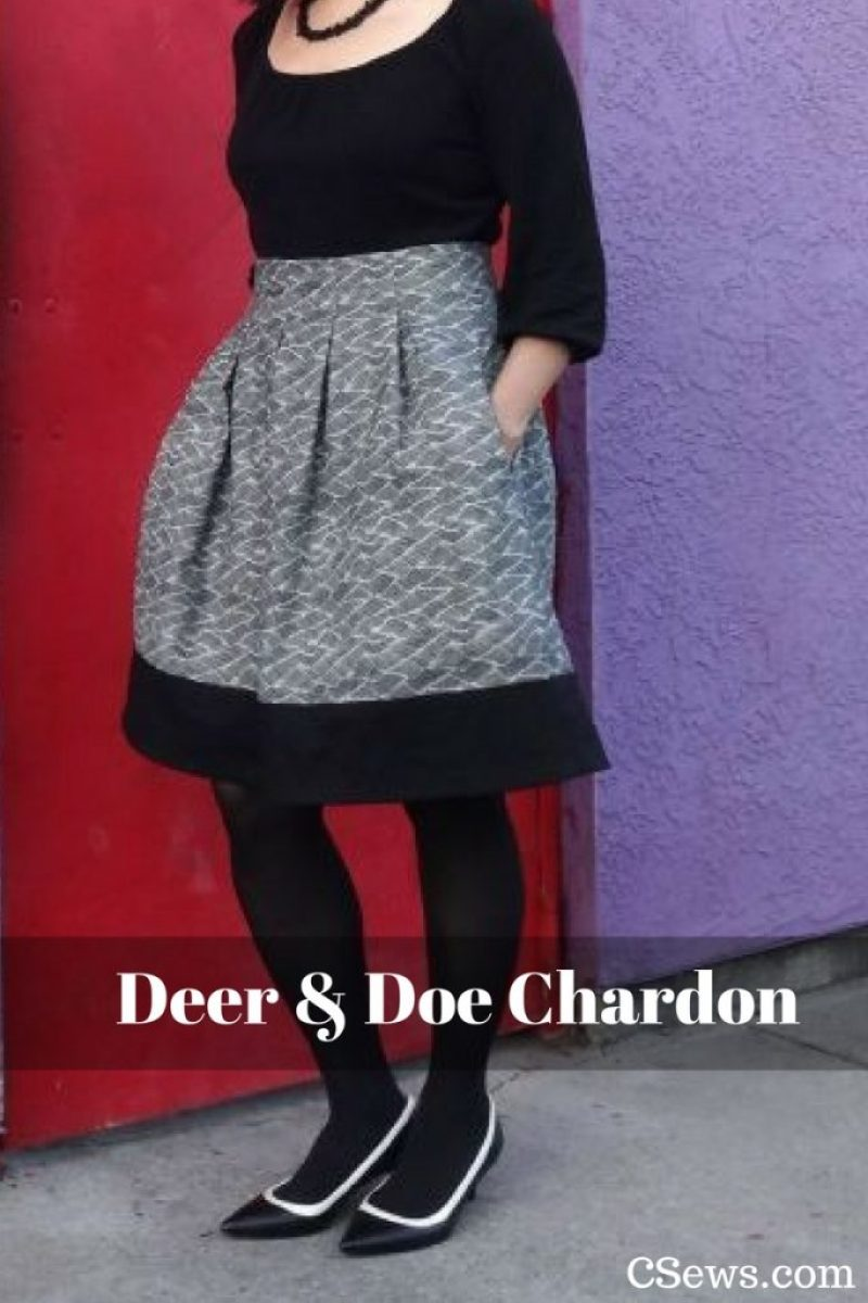 Deer and Doe sewing pattern - Chardon skirt - CSews.com
