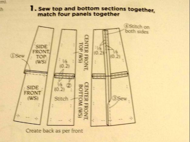 Skirt instructions - Basic Black - A-line block skirt