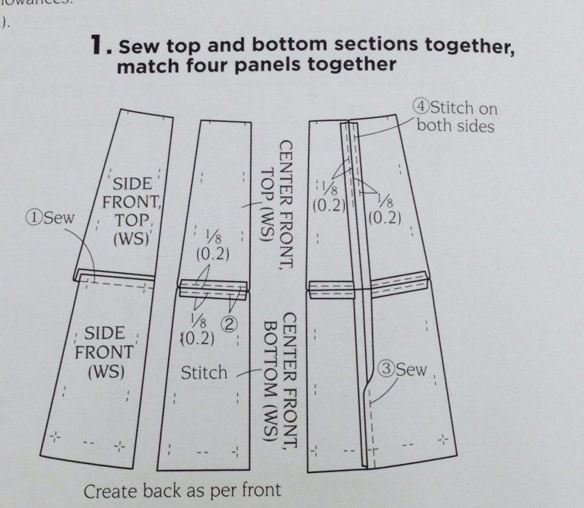 Basic Black - skirt instructions - diagram - csews.com