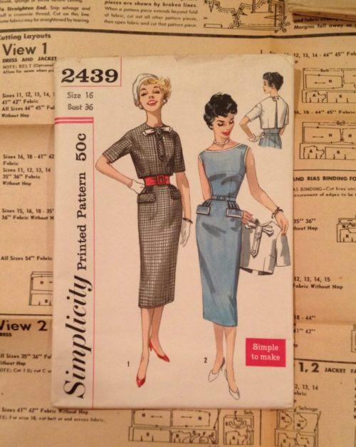 Simplicity 2439 - vintage sewing pattern - csews.com