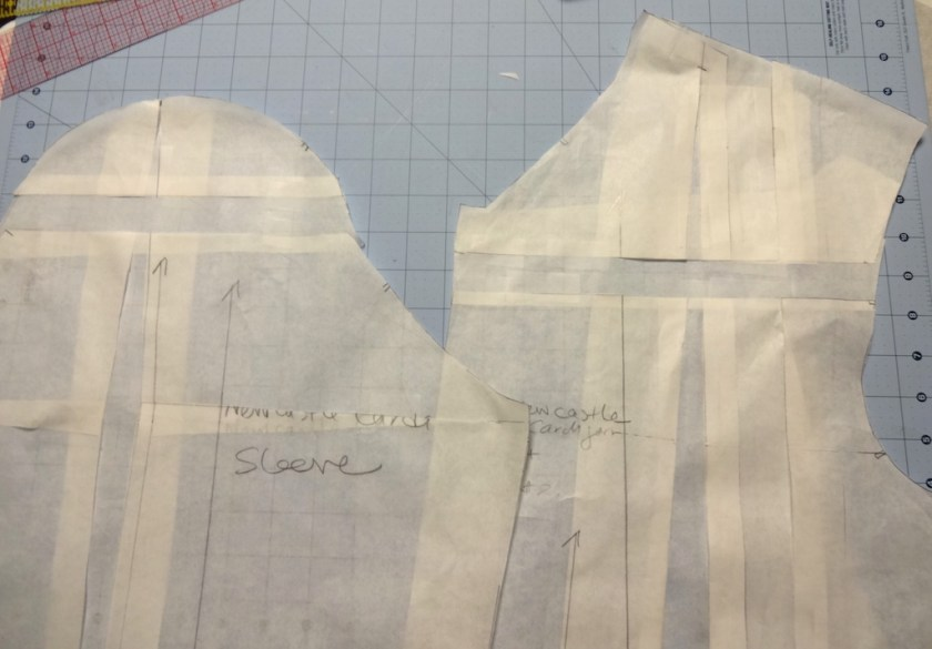 Newcastle Cardigan - sleeve and front adjustment - csews.com