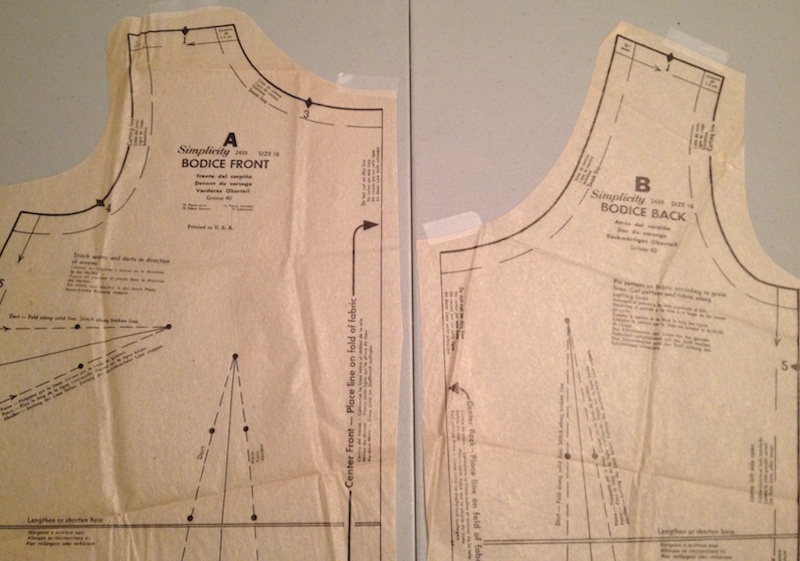 Front and back bodice - Simplicity 2439 - Spring for Cotton - csews.com
