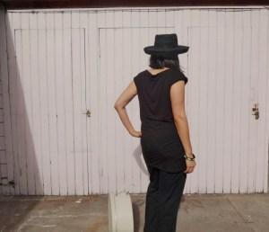 Draped mini - She Wears the Pants - back right - csews.com