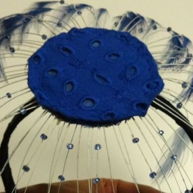 Fascinator completed - spring for cotton - csews.com