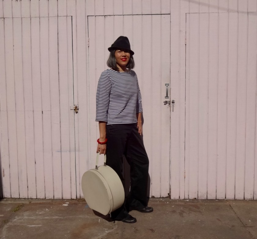 Top - She Wears the Pants - black fedora - csews.com