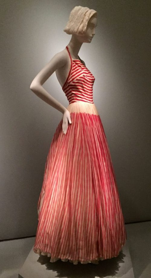 James Galanos striped gown - Brooklyn Museum Costume Collection - csews.com