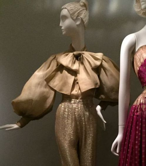 Silk organza blouse -  Brooklyn Museum costume collection - csews.com