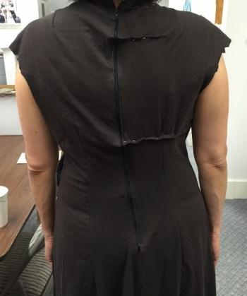 Adjusting back - knit dress - Bay Area Sewists - csews.com
