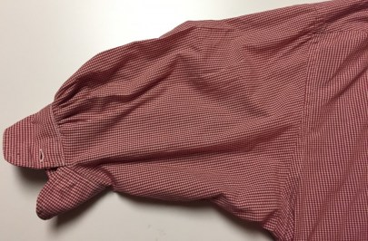 Sleeve shortened cuff reattached - refashioned shirt - csews.com