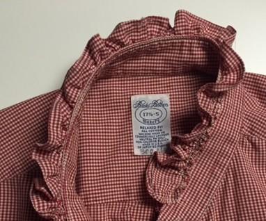 Ruffled collar - detail - refashioned shirt - csews.com