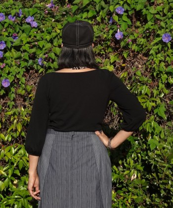 A-Frame Skirt - Blueprints for Sewing - back of pencil skirt - csews.com