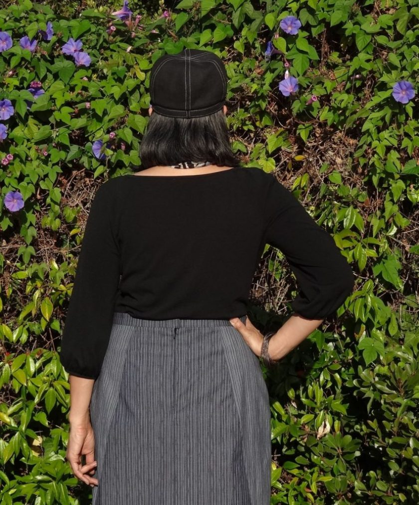 A-Frame Skirt - Blueprints for Sewing - back of pencil skirt - csews.com
