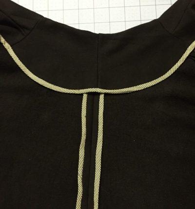 Back facing - finished edges - V2934 - csews.com