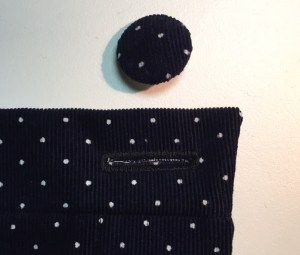 Button hole and covered button - Nita Wrap Skirt - Sew DIY pattern - csews.com