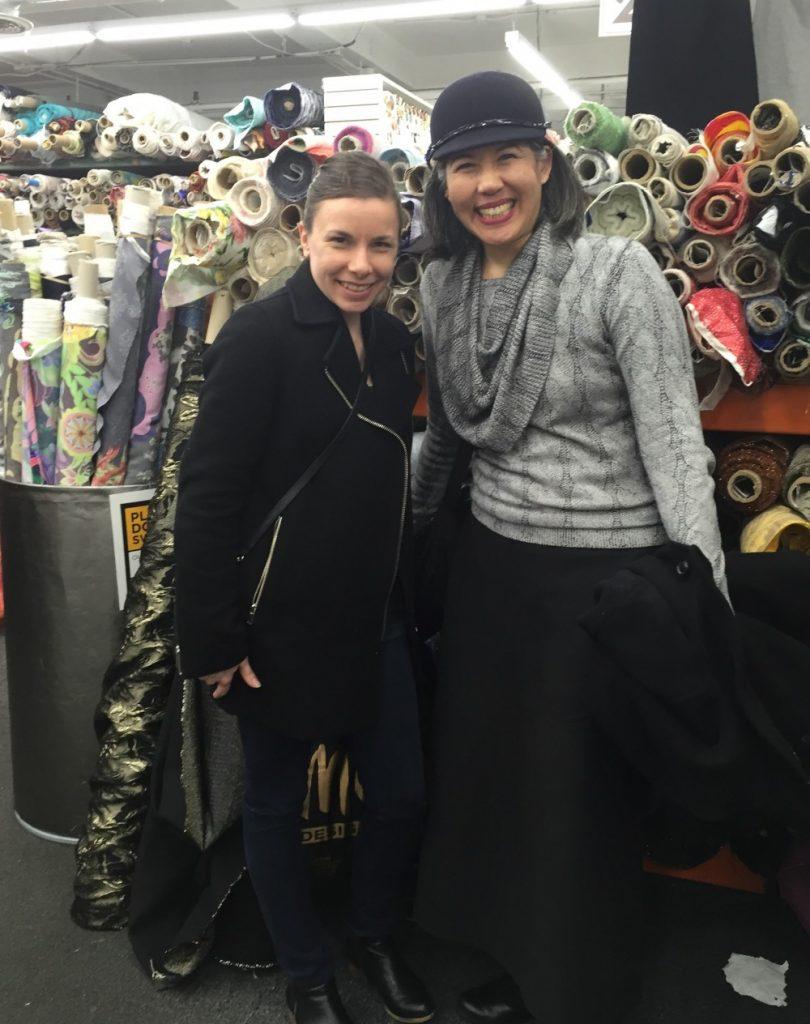 Betsy and Chuleenan at Mood Fabrics - csews.com