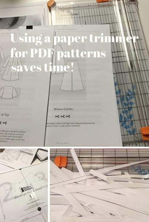 Using a paper trimmer for PDF patterns saves time - csews.com
