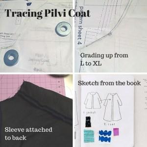 Tracing Pilvi Coat - Lotta Jansdotter Everyday Style - C Sews - csews.com
