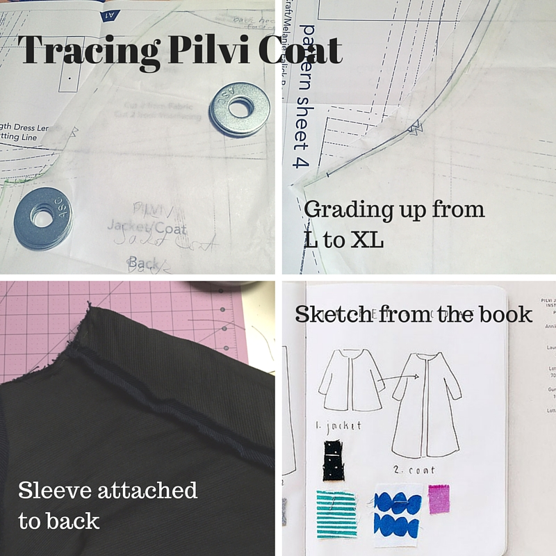 Tracing Pilvi Coat - Lotta Jansdotter Everyday Style - C Sews - csews.com