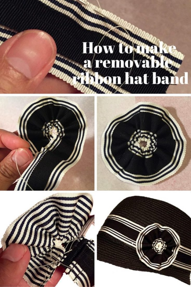 Millinery tutorial: How to make a removable hat band - C Sews for Britex Fabrics blog