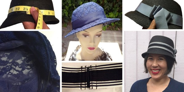 Millinery tutorials for Britex Fabrics: How to make a lace hat + making a removable ribbon hatband - CSews.com