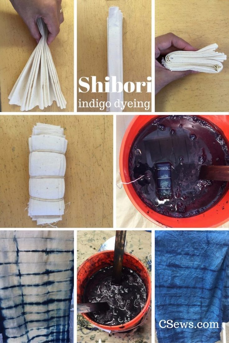 Shibori - indigo dyeing workshop - CSews.com