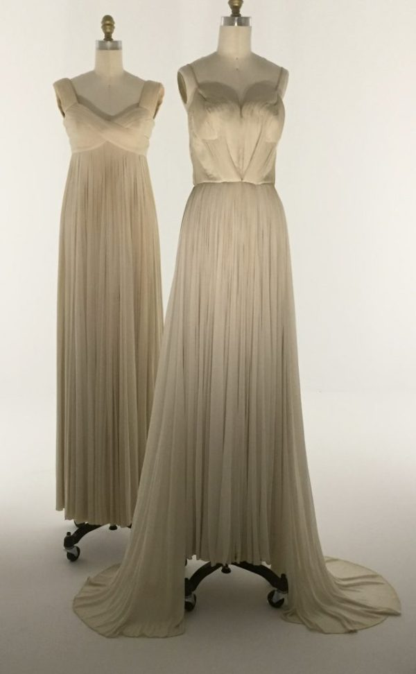 Manus x Machina - Madame Gres evening gowns - hand-gathered and -stitched pleats