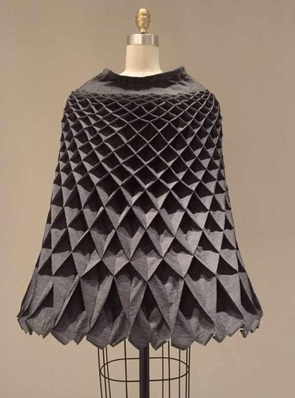 Manus x Machina - Commes des Garcons by Junya Watanabe - fall/winter 2015-16 wool and polyurethane jersey cape