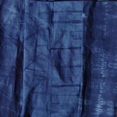Shibori indigo designs for 16-panel skirt