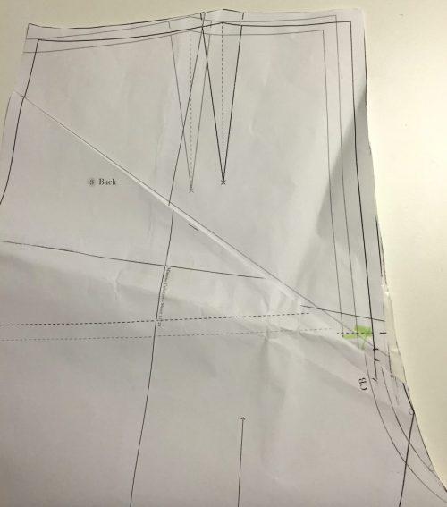 Mimosa Culottes - Named Clothing - back pattern adjustment